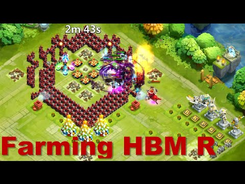Castle Clash - Farming HBM R & Lost Realm 22
