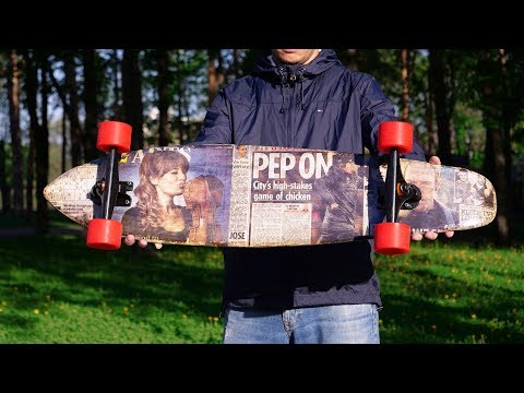 How to Make Skateboard from 120 Layers of Paper