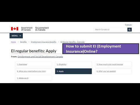 How To Submit Application For Employment Insurance (EI) In Canada ? Part 1 | Step By Step Guide |