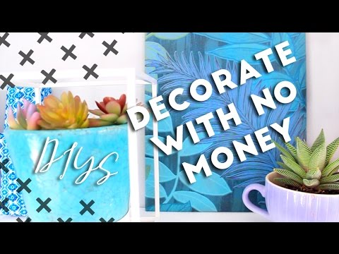 decorate with no money budget diy room decor youtube