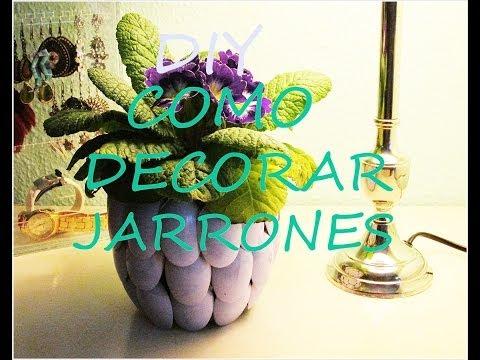 Adornar un tarro de cristal con motivos marinos de jm qj - Como decorar jarrones ...