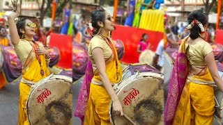 Cute Girl Dhol Performance in Indian | Lovely Performance Beats |  WhatUp Tamizha |