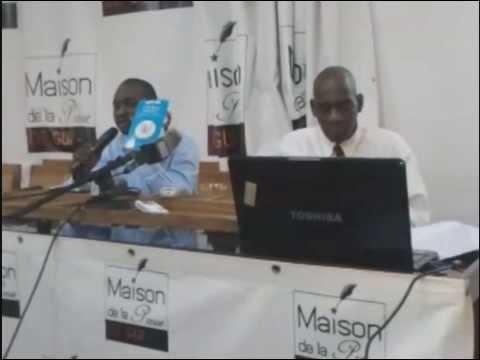 Pathé Dieng Conférence Maison de la Presse Guinée