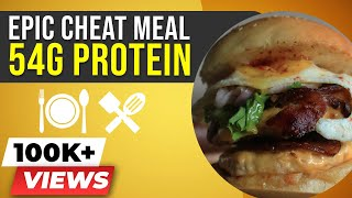 EPIC Cheat Meal - Chicken Burger - BeerBiceps High Protein Recipes