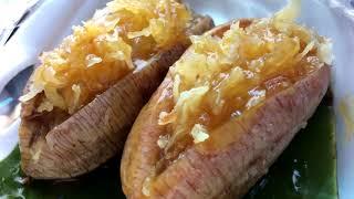 กล้วยปิ้งมะพร้าวน้ำเชื่อม ป้านิจ