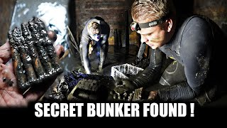 Secret WW2 bunker full of water! empty with water pumps! Can we find things!?