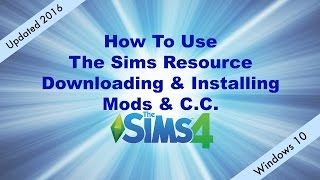 How To Use The Sims Resource Updated 2016