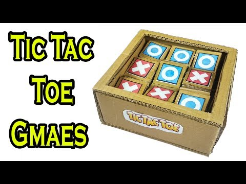 Diy Tic Tac Toe Games From Cardboard | How To Make A Tic Tac Toe Game At Home