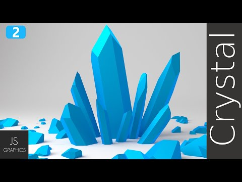 Blender | Low-poly: Crystals