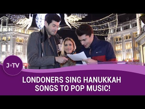 Londoners Sing Hanukkah Songs to Pop Music!