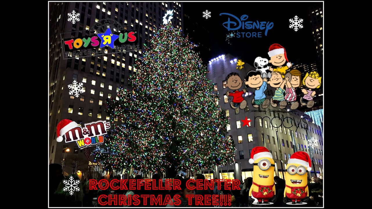 Christmas in NYC! Rockefeller Center Tree Macy's The ...