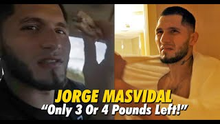 After Pigging Out On McDonald's & Checkers, Jorge Masvidal Has To Lose Weight In 24hrs | Throwback