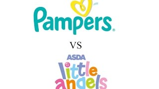 Pampers vs asda little angels size 0 nappies product testing