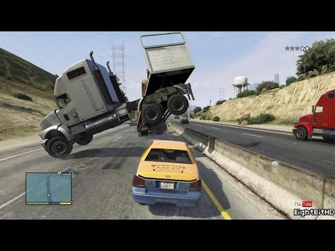 GTA 5 100 Tons Super Taxi Rampage #2 HD Grand Theft Auto 5