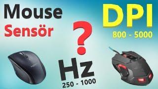 Mouse DPİ Nedir. Ayarları ve Nelere dikkat edilmeli.? 125Hz, 500Hz