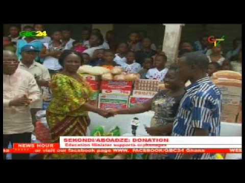 Sekondi/Aboadze: W/R Education Minister Donates To Orphanages