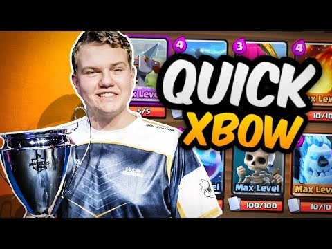 ONLY 12 WINS! 2.9 Super Quick X-Bow Cycle Deck LIVE Grand Challenge Gameplay - Clash Royale