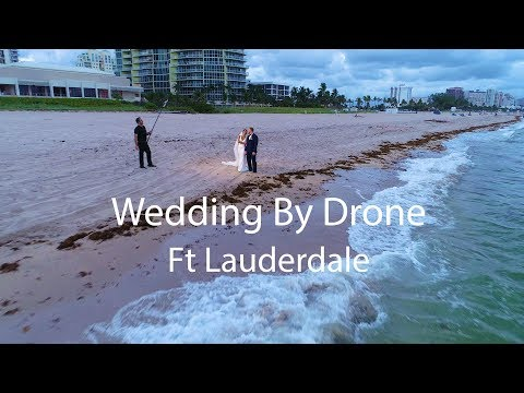 Wedding By Drone at Marriott Harbor Beach Ft Lauderdale