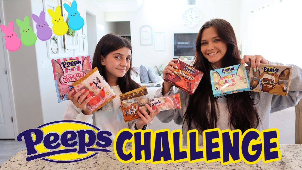 GUESS THE PEEPS FOOD CHALLENGE EASTER 2021 EDITION! EMMA AND ELLIE