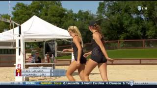 Beach Volleyball: USC 5, Stanford 0 - Highlights 4/18/17