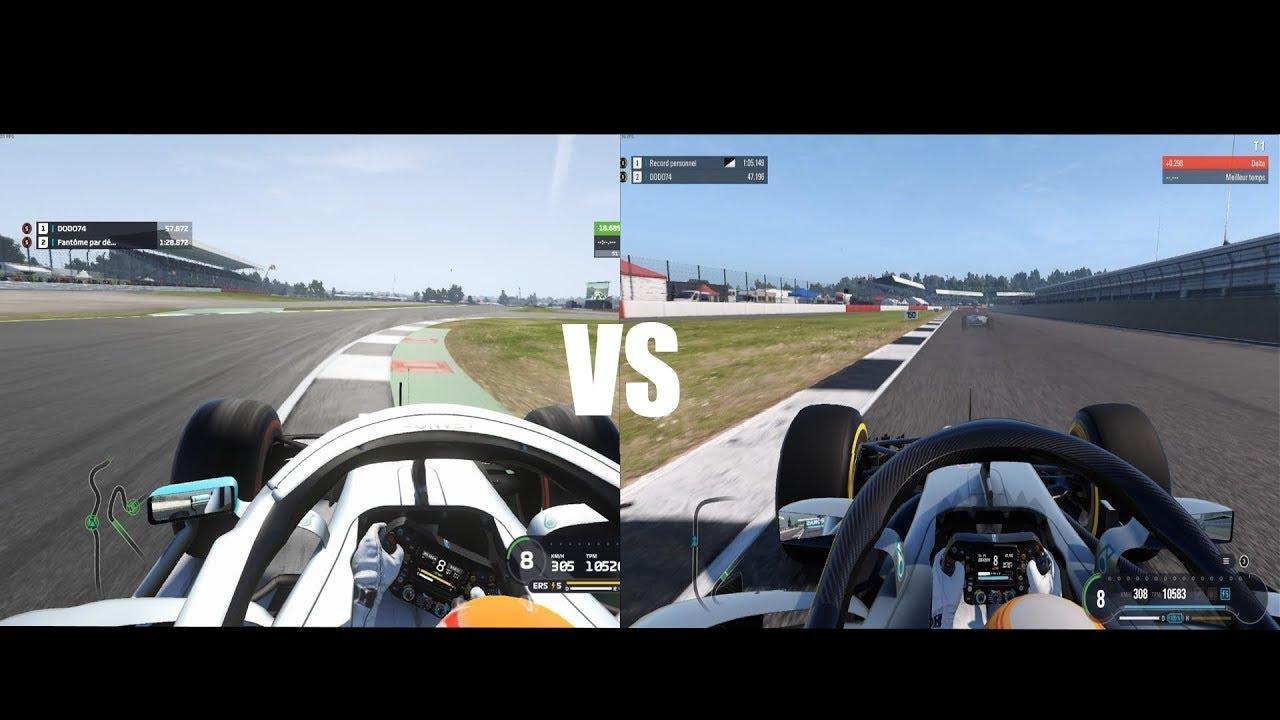F1 2019 VS F1 2018 Silverstone