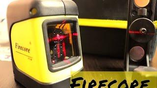 ОБЗОР на Лазерный уровень Firecore F112R Самовыравнивающийся Автоматический 2 линии лазерная рулетка