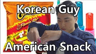 Korean Guy Tries American Snacks!! Mukbang, 먹방