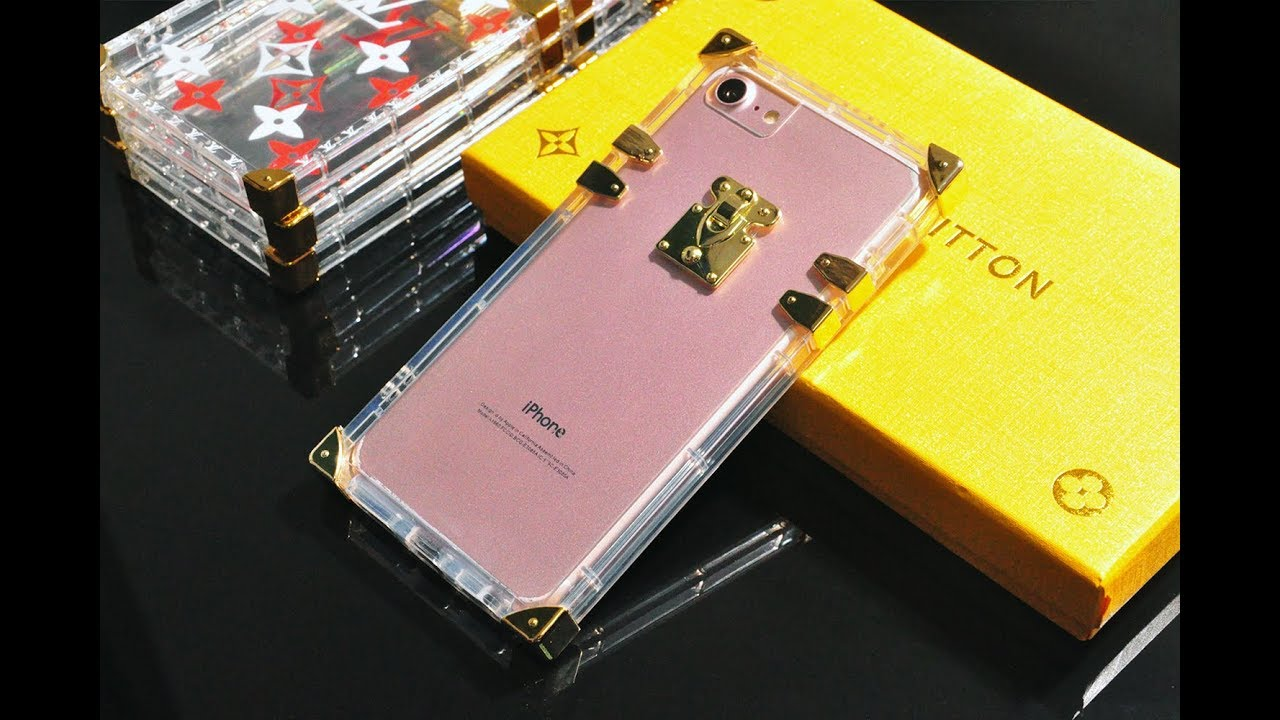 best website d0266 6ce66 Clear transparent soft TPU silicone famous LV monogram eye trunk iPhone  case cover