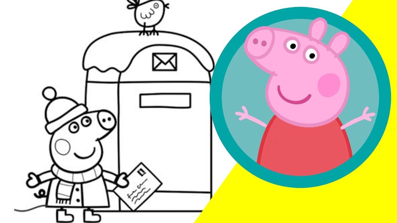 Peppa Pig  juego de colorear a Peppa Pig  juegos educativos