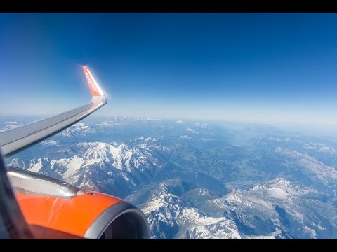 easyJet Malpensa to Gatwick - Complete Flight || With stunning views over Mount Blanc