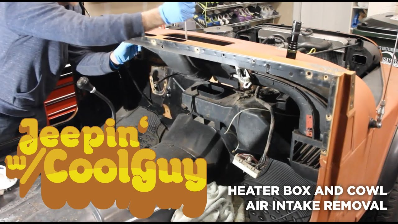 hight resolution of jeep cj7 heater box and fresh air intake removal