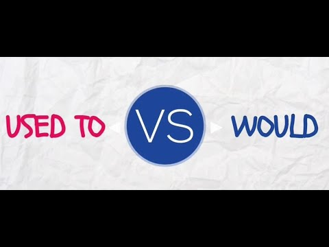 USED TO VS  WOULD INTRO