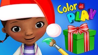 Doc McStuffins Christmas Toys Animal Check Up  3D Coloring Disney Junior App For Kids