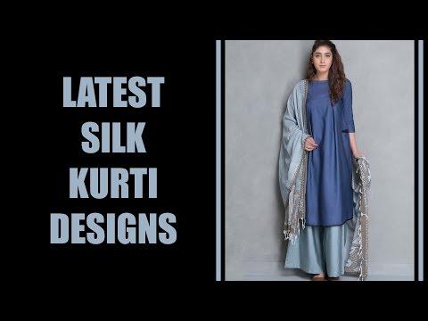 Latest Silk Kurti Designs