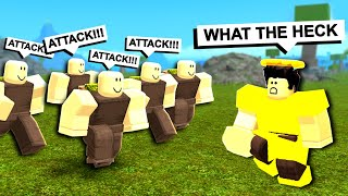 NOOB DISGUISE TRIBE! *DISGUISE TROLLING!* (Roblox Booga Booga)