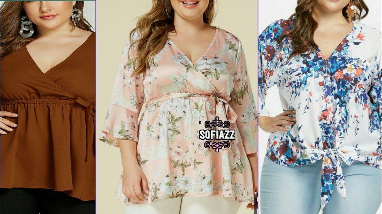[VIDEO] - 50+ XL Size Outfits For Working Women | Plus Size Top | Blouse | Tunic Designs By sofiazz 5