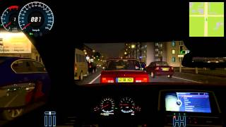 City Car Driving - BMW M6 2012 mod night city cruising