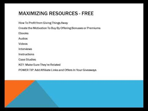 Maximizing Information Resources For Profit - Video 3 - Creation Motivation To Buy