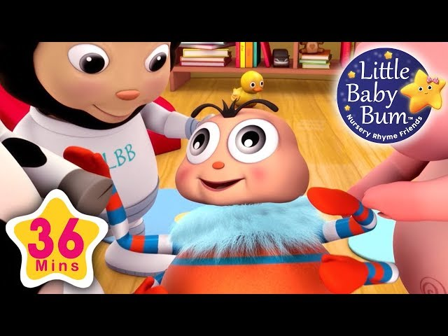 Head Shoulders Knees and Toes | Part 2 | 36 Minutes Compilation from LittleBabyBum