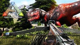 ARK: Survival Evolved -  ALPHA T-REX ATTACK!! (ARK Ragnarok Gameplay) thumbnail