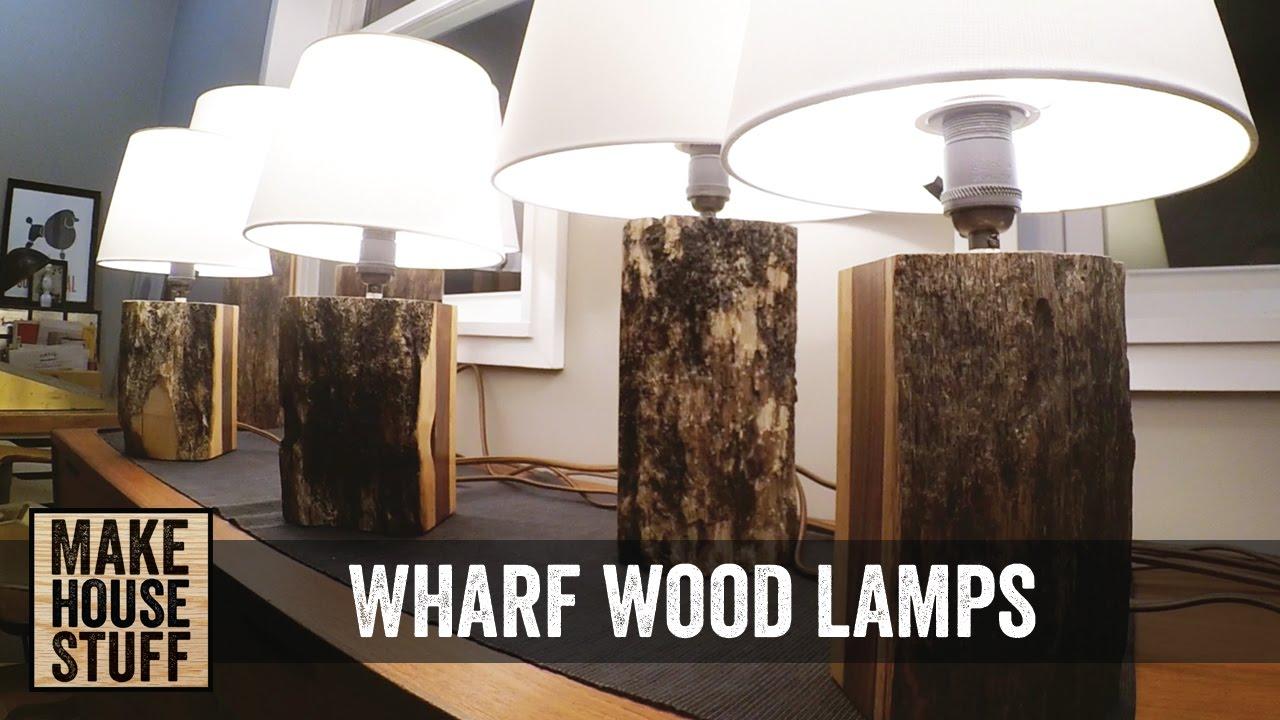 Making A Few Reclaimed Wharf Wood Lamps Youtube