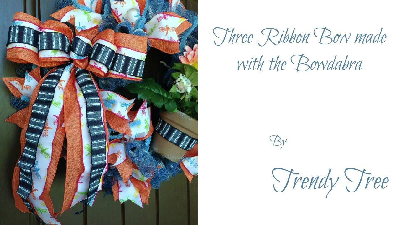 Three Ribbon Bow using the Bowdabra by Trendy Tree - YouTube