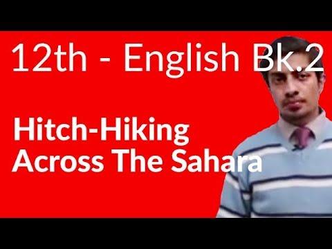 12th Class English Book II Chapter 12 Hitch - Hiking Across the Sahara - FA FSc Part 2