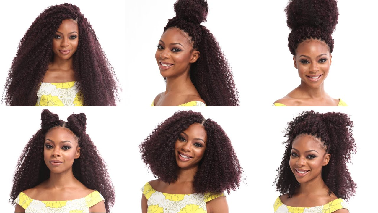 Crochet Hair You Can Curl : Crochet Braids Tutorial How to Install and Style X-Pression Kinky ...