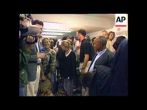 GERMANY: BONN: 90 GERMANS RETURN HOME AFTER FLEEING ERITREA