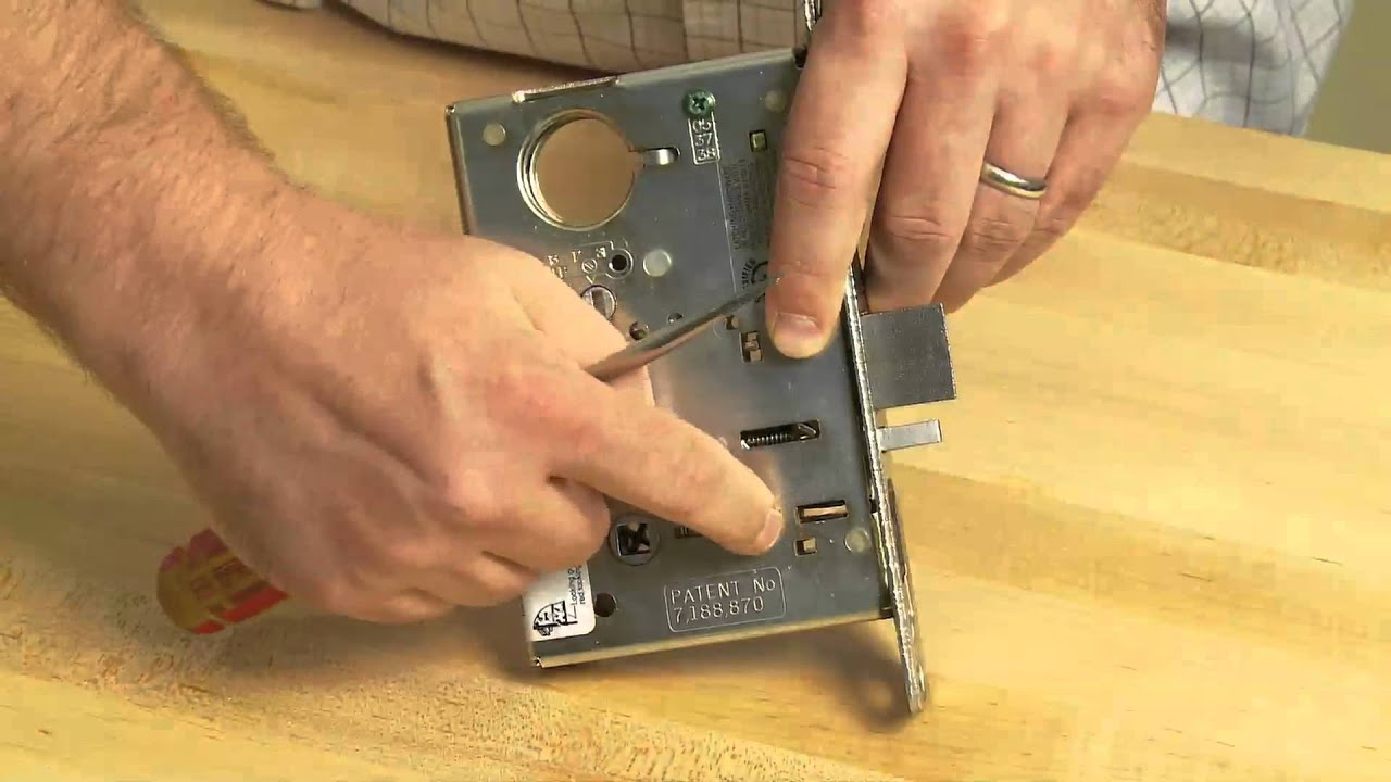 SARGENT Mortise Lock Handing Change