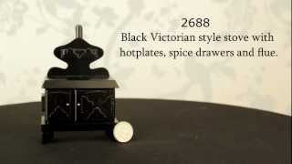 1/12 Miniature Victorian Stove With Hotplates