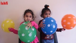 Toddler Play Time with Polka Dot Balloon & Finger Family Song | Ishfi
