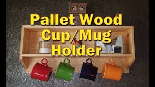 Pallet Wood Coffee Cup/Mug Holder