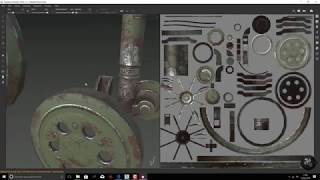Tank timelapse - Retopo, UVS, Substance Painter